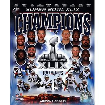 New England Patriots Super Bowl XLIX Champions Composite Sports Photo (8 x 10)