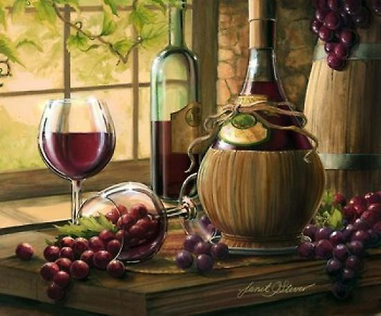 Wine By The Window I Poster Print by Janet Stever (30 x 25)