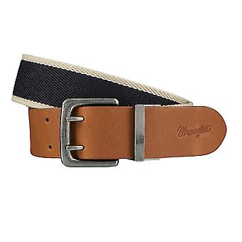 WRANGLER belt leather belts men's belts belt blue/Brown 4080