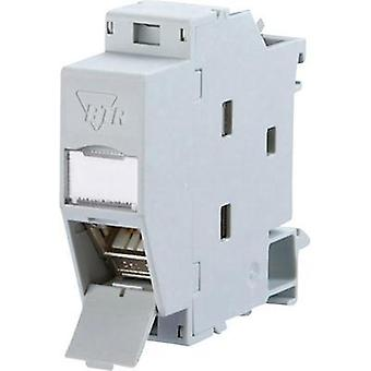Network outlet DIN rail CAT 6A Metz Connect 130B117003-E