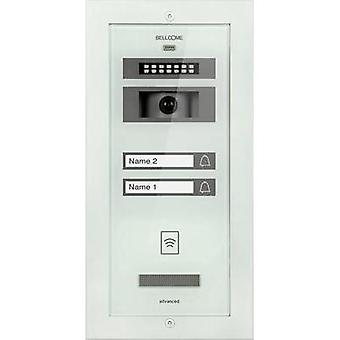 Video door intercom Corded Outdoor panel Bellcome VPA.2FR02.BLW Semi-detached White