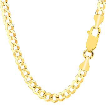 14k Yellow Gold Comfort Curb Chain Bracelet, 5.7mm, 8.5