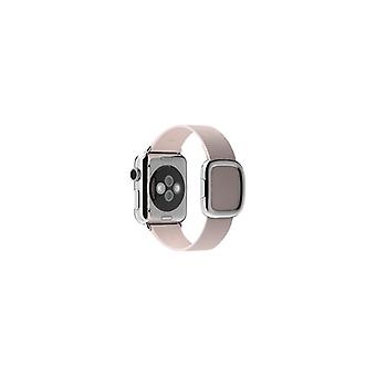 Apple 38 mm moderne gesp-kleine-klockrem-zacht roze-Watch (38 mm)