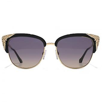 Roberto Cavalli Wezn Cateye Sunglasses In Shiny Black