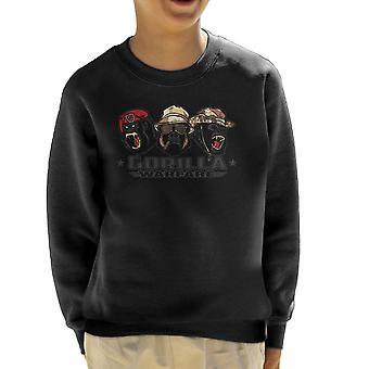 Gorilla krigsførelse børne Sweatshirt