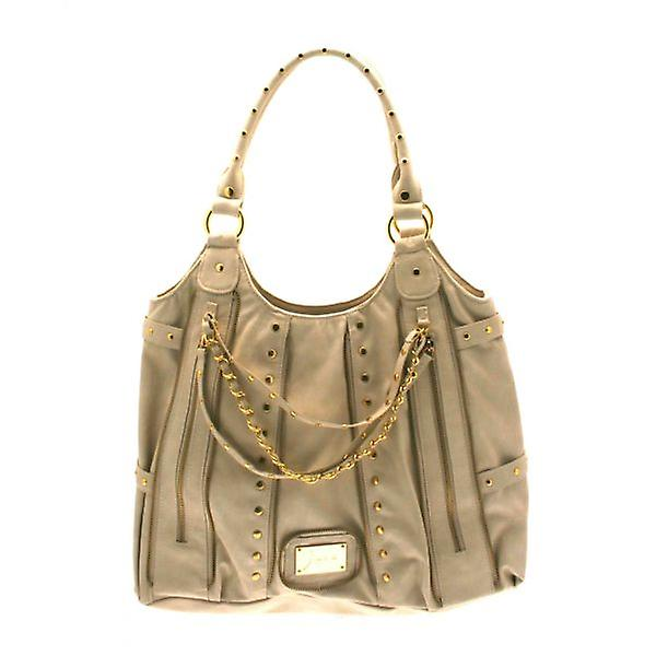 W.A.T Stone Zip And Chain Large Tote Handbag