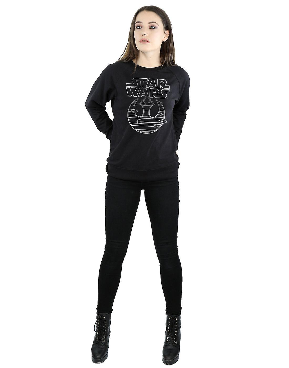 Star Wars Women's The Last Jedi Resistance Logo Metallic Sweatshirt