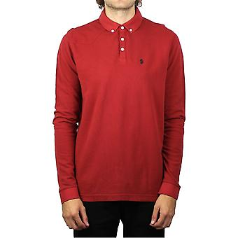 Luke 1977 Long Basking Long-Sleeved Polo Shirt (Cherry)