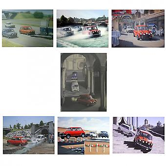 Robert Tomlin Set Of 7 Italian Job Prints By Robert Tomlin