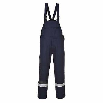 Portwest - Bizflame Plus Flame Resistant Safety Workwear Bib and Brace Dungarees