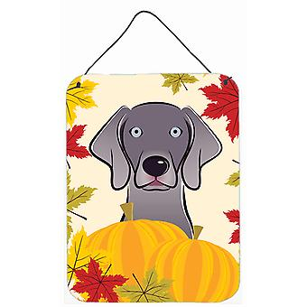 Weimaraner Thanksgiving Wall or Door Hanging Prints