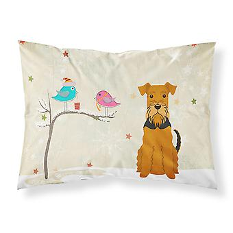 Christmas Presents between Friends Airedale Fabric Standard Pillowcase