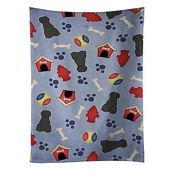 Carolines tesouros BB2694KTWL cachorro casa coleção Briard toalha de cozinha preto
