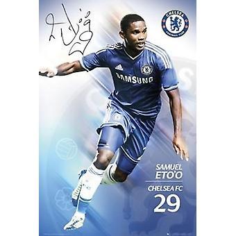 Chelsea FC Samuel Etoo Poster Poster Print