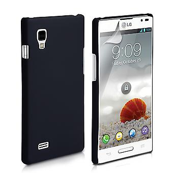 Yousave Accessories LG Optimus L9 Hard Hybrid Case - Black