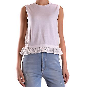 Red Valentino women's KR0KM0132CH0BO white cotton top