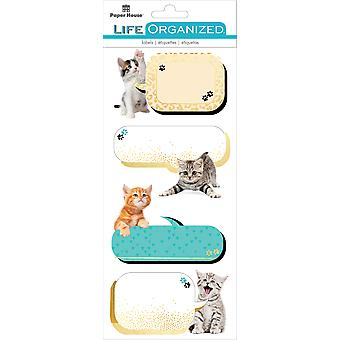 Paper House Life Organized Label Stickers-Kittens STLB-0007E