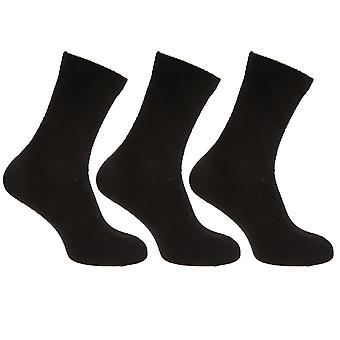 Mens Stretch Top Rich Diabetiker Baumwollsocken (Packung mit 3)