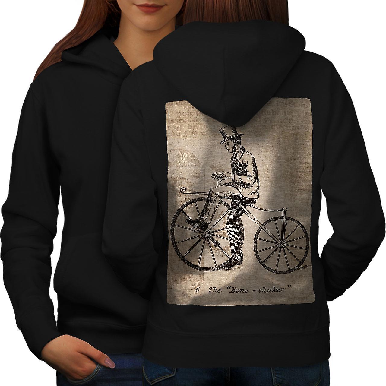 Homme à bicyclette femmes noirHoodie arrière