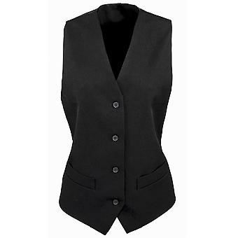 Premier Womens/Ladies Lined Polyester Waistcoat / Bar Wear / Catering