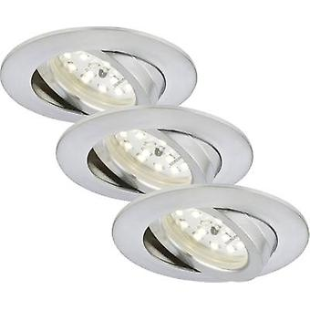 LED flush mount light 3-piece set 16.5 W Warm white Briloner