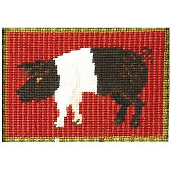 Saddleback Pig Needlepoint Kit