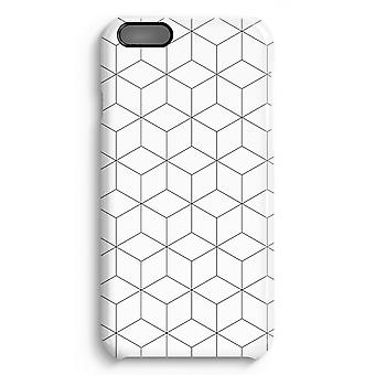 iPhone 6 Plus Full Print Case (Glossy) - Cubes black and white