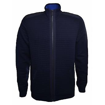 Ted Baker Ted Baker Men's Ken Navy Blue Quilted Bomber Jacket