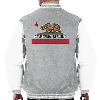 Staat Kalifornien Republik Bear Flag Varsity Jacke Herren