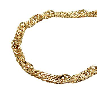 Singapore chain gold plated necklace