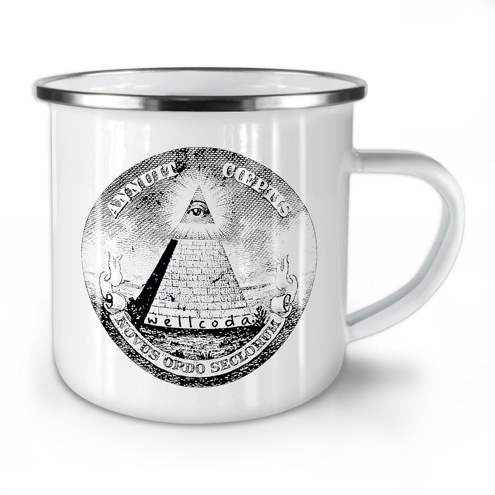 New OzWellcoda Enamel Coffee Mug10 Whitetea Triangle Pyramid wTOklXPuZi