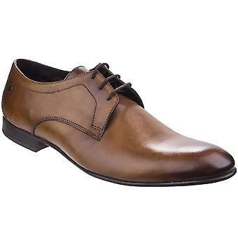 Base London Elgar Washed Leather Mens Lace-Up Shoes