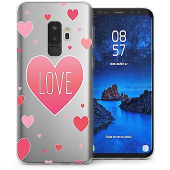 Samsung Galaxy S9 Plus Love Hearts TPU Gel Case - roze