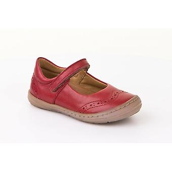 Froddo G3140069-1 Red Leather Mary Jane Shoe With Scuff Protection
