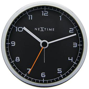 Nextime Alarm Clock 9X9X7,5 Cm Metal Black Company Alarm (Decoration , Clocks)