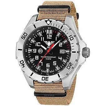 KHS tactical mens Watch country leader steel KHS. LANS. NT