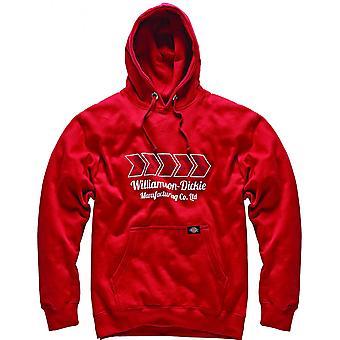 Dickies para hombre Arkley Logo Hoodie con capucha Sudadera rojo SH11600