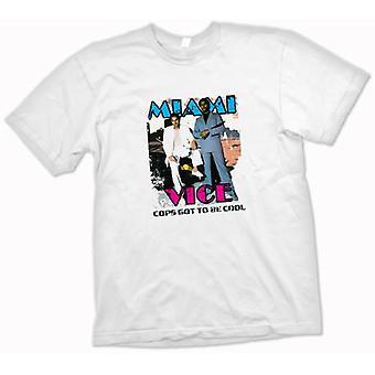 Womens T-shirt - Miami Vice - Cool Cops - Cult - TV
