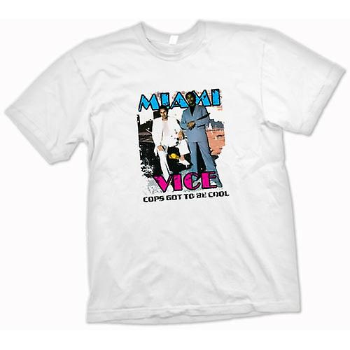 Womens T-shirt - Miami Vice - Cool Cops - Cult - TV