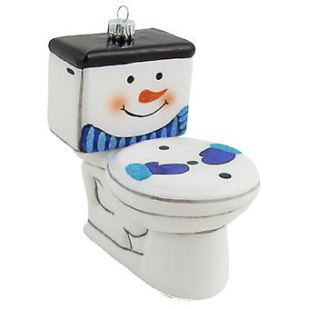 Frosty the Toilet Bet You Never Saw One of These Christmas Holiday Ornament