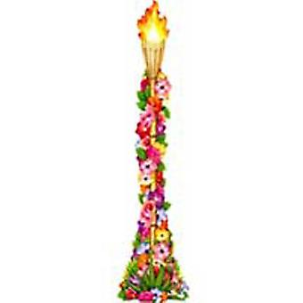Jointed Floral Tiki Torch Decoration
