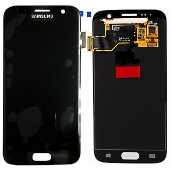 Display LCD Komplettset Schwarz für Samsung Galaxy S7 G930 G930F GH97-18523A