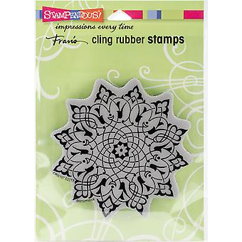 Stampendous Cling Stamp -Arabesque