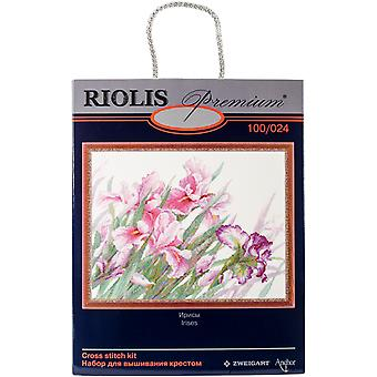Irises Counted Cross Stitch Kit-17.75