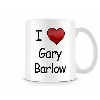 Gary Barlow imprimé J'aime la tasse