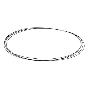Ti2 Titanium Stainless Steel Wire Cables Necklace - Black