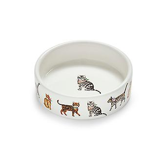 Cooksmart Cats on Parade Small Pet Bowl