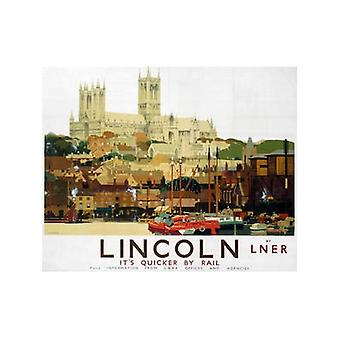 Линкольнский собор (старый Lner Н.э.) Холодильник магнит