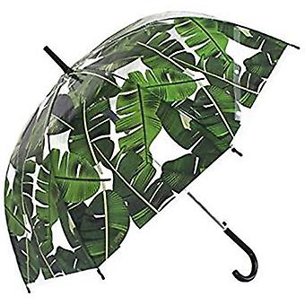 Straight Clear Umbrella (Palm leaf Scarse)