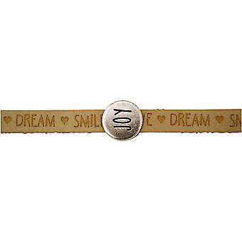 -Bracelet - joy - happy - WISHES - Brown - sand - magnetic closure